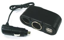 Multi car charger with Dual USB ports